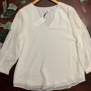 Calvin Klein long sleeve blouse Size M